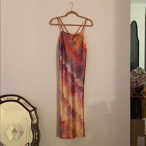 ASOS Dresses - Silky Tie Dye Slip Dress